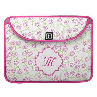Pretty pink roses laptop bag. sleeve for MacBook pro