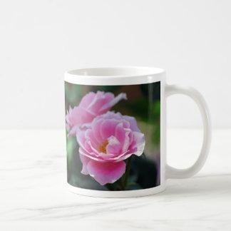Pretty pink roses classic white coffee mug