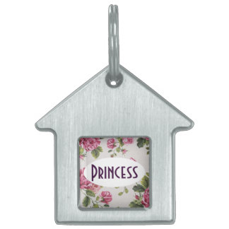 Pretty Pink Roses Pet Tag
