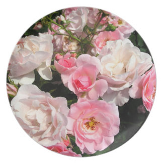 Pretty Pink Roses Plate