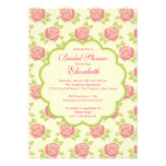 Pretty Pink Roses Spring Bridal Shower Invitation