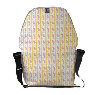 Pretty Pink Seahorses Messenger Bag