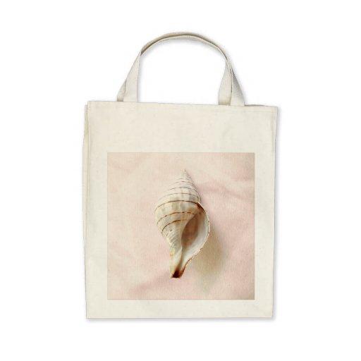Pretty Pink Seashell Organic Tote Bag