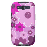 Pretty Pink Shabby Chic Floral Wallpaper Pattern Samsung Galaxy S3 Cases