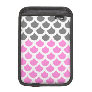 Pretty Pink/ Smoke Fish Scale 2 iPad Mini Sleeves