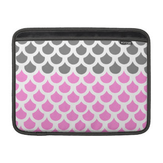 Pretty Pink/ Smoke Fish Scale 2 MacBook Air Sleeve