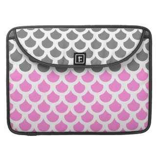 Pretty Pink/ Smoke Fish Scale 2 Sleeve For MacBook Pro