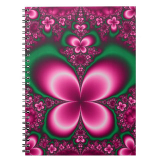 Pretty pink spiral notebooks