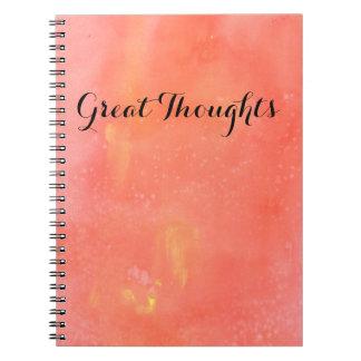 Pretty Pink Splotches Spiral Notebook