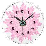 pretty pink spring flower clock