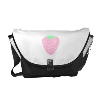 Pretty Pink Strawberry. Courier Bag