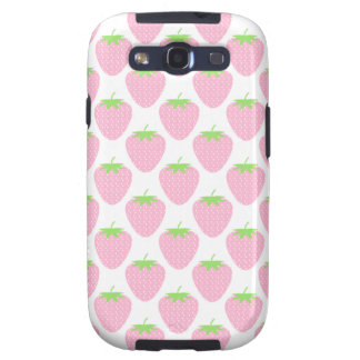 Pretty Pink Strawberry Pattern Galaxy S3 Cases