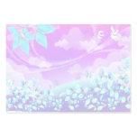 pretty pink summer fantasy landscape design large business cards (Pack of 100)