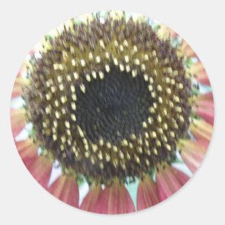 Pretty Pink Sunflower Stickers
