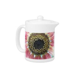 Pretty Pink Sunflower Teapot
