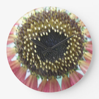 Pretty Pink Sunflower Wall Clock