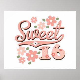 Pretty Pink Sweet 16 Poster Print