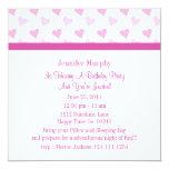 """Pretty Pink Sweetheart Invitations 5.25"""" Square Invitation Card"""