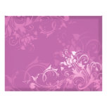 pretty pink swirl floral design custom flyer