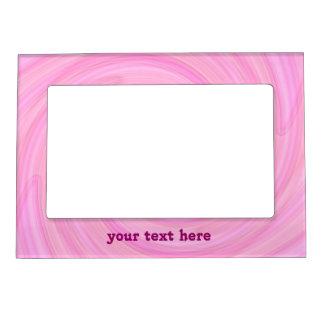 Pretty pink swirl magnetic photo frame