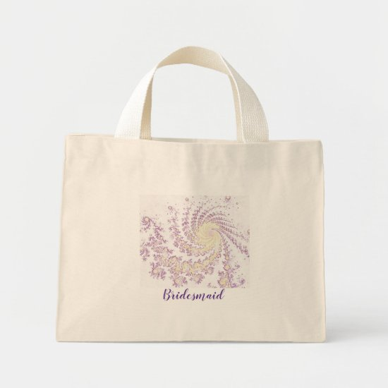 Pretty Pink Swirling Bridesmaid Mini Tote Bag