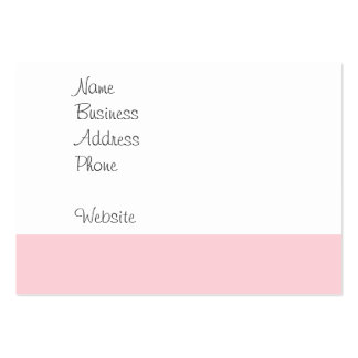 Pretty Pink Tile Wave Pattern Gifts for Her Large Business Cards (Pack Of 100)