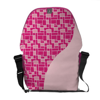 Pretty Pink Tile Wave Pattern Gifts for Her Messenger Bags
