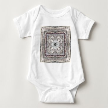 Aztec Themed Pretty Pink Tinged Aztec Inspired Pattern Baby Bodysuit
