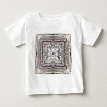 Aztec Themed Pretty Pink Tinged Aztec Inspired Pattern Baby T-Shirt