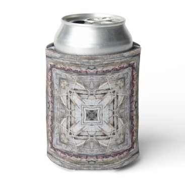Aztec Themed Pretty Pink Tinged Aztec Inspired Pattern Can Cooler