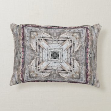 Aztec Themed Pretty Pink Tinged Aztec Inspired Pattern Decorative Pillow