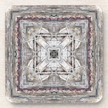 Aztec Themed Pretty Pink Tinged Aztec Inspired Pattern Drink Coaster