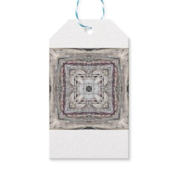 Aztec Themed Pretty Pink Tinged Aztec Inspired Pattern Gift Tags