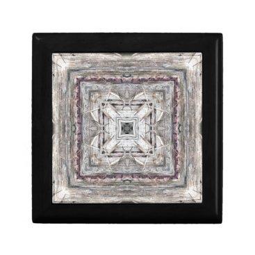Aztec Themed Pretty Pink Tinged Aztec Inspired Pattern Keepsake Box