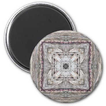 Aztec Themed Pretty Pink Tinged Aztec Inspired Pattern Magnet