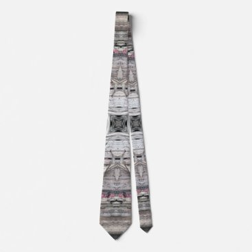 Pretty Pink Tinged Aztec Inspired Pattern Neck Tie