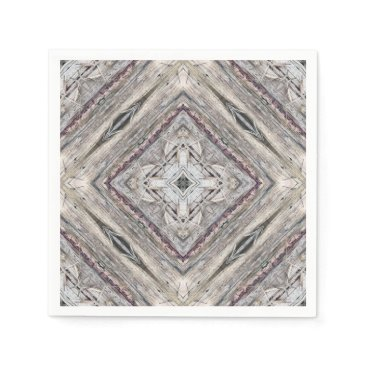 Aztec Themed Pretty Pink Tinged Aztec Inspired Pattern Paper Napkin
