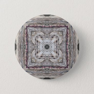 Aztec Themed Pretty Pink Tinged Aztec Inspired Pattern Pinback Button