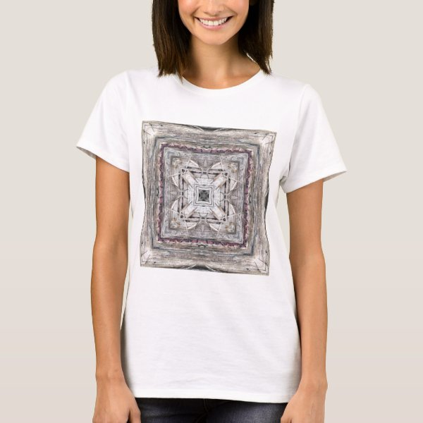Pretty Pink Tinged Aztec Inspired Pattern T-Shirt
