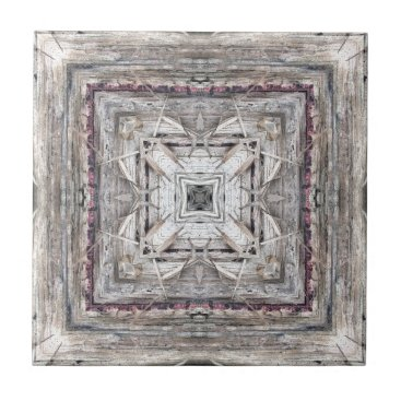 Aztec Themed Pretty Pink Tinged Aztec Inspired Pattern Tile