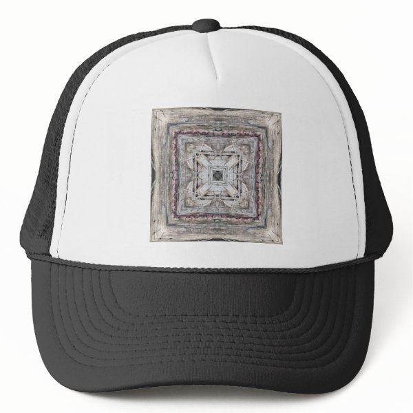 Pretty Pink Tinged Aztec Inspired Pattern Trucker Hat