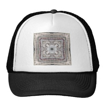 Aztec Themed Pretty Pink Tinged Aztec Inspired Pattern Trucker Hat