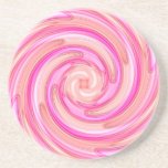 Pretty pink tones girly swirl drink coasters