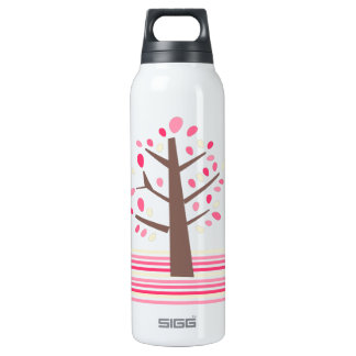 Pretty Pink Tree Thermos Water Bottle