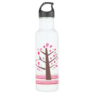 Pretty Pink Tree Water Bottle