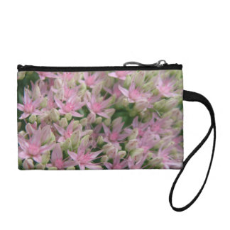 Pretty Pink Tropical Flowers Bagettes Bag Coin Wallet
