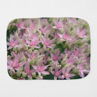 Pretty Pink Tropical Flowers Burp Cloth