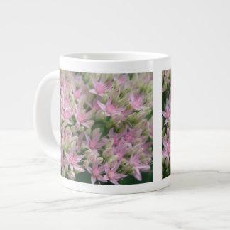 Pretty Pink Tropical Flowers Mug Extra Large Mugs