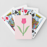 Pretty Pink Tulip Flower. Bicycle Playing Cards