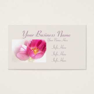 Pretty Pink Tulips Business Card